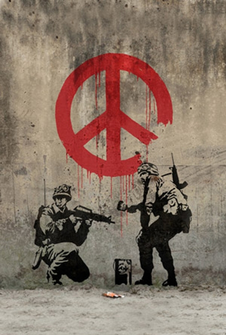 Soldiers-Painting-Peace-by-Banksy