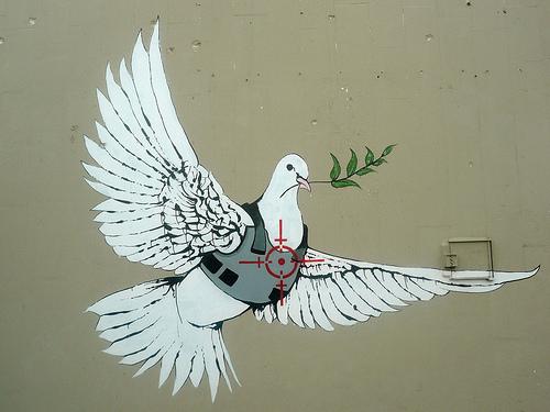 Banksy dove of peae