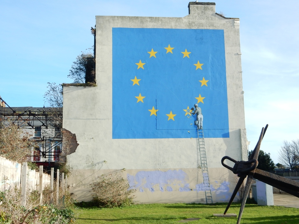 EU Flag Banksy