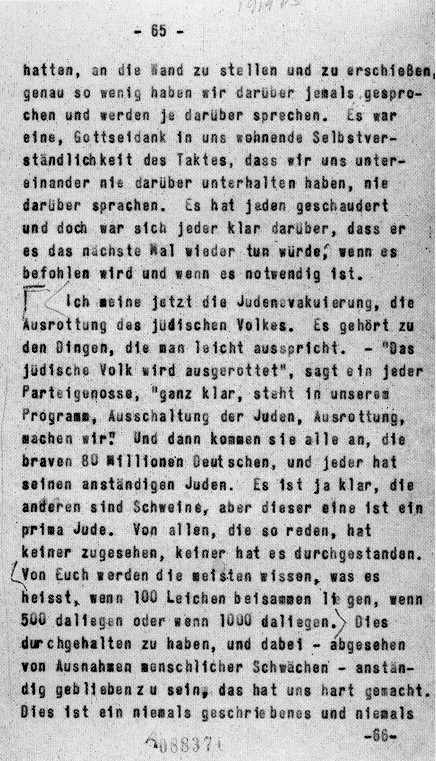 Page_of_Himmler_Posen_Speech,_Oct_4,_1943